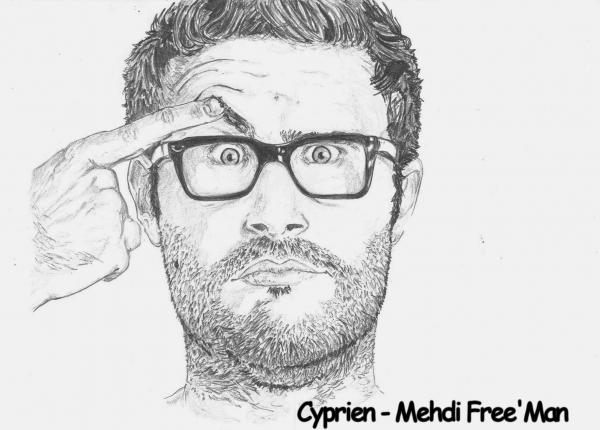 Portrait de cyprien iov par freeman sur stars portraits - Dessin de cyprien ...